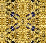 Free Photo - Golden lattice background