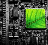 Free Photo - Electronic Circuit with Green Leaf - Green Technology