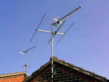 Rooftop Antennae - Free Stock Photo