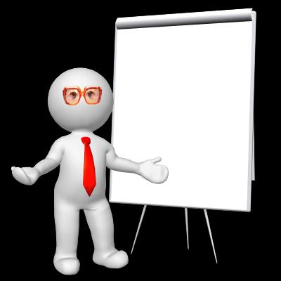 3d rendred Man with board business illustration - Free Stock Photo