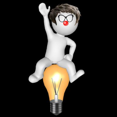 3d rendered Man on a bulb illustration - Free Stock Photo