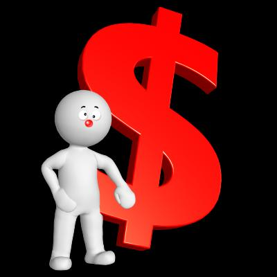 3d Rendered Man with dollar sign illustration - Free Stock Photo