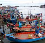 Free Photo - Moored Thai fishing boats