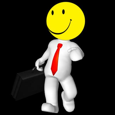 3d rendered Happy Face business man illustration - Free Stock Photo