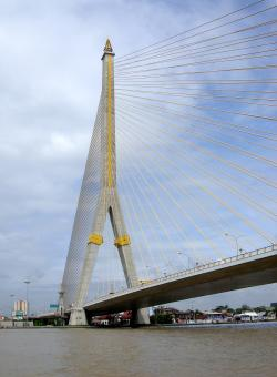 Rama VIII Bridge, Bangkok - Free Stock Photo