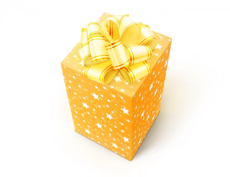 Free Stock Photo of Yellow Gift Box Created by 2happy