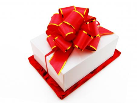 Gift box with bow - Free Stock Photo