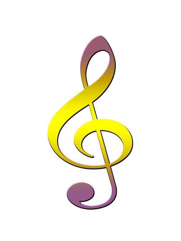 Free Stock Photo of Treble Clef Created by Chas Mac