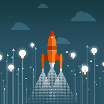 Rocket Taking Off - Start-up Concept - Free Stock Photo