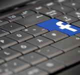 Free Photo - Facebook Logo on Laptop Keyboard