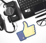 Free Photo - Facebook Thumbs-Up with Laptop and Camera