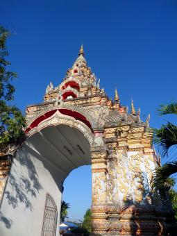 Wat Nantaram Buddhist Temple gate - Free Stock Photo