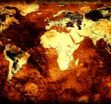 Free Photo - Rusty world map