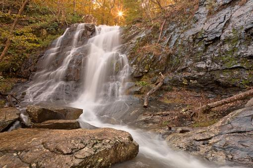 Jones Sun Waterfall - HDR - Free Stock Photo