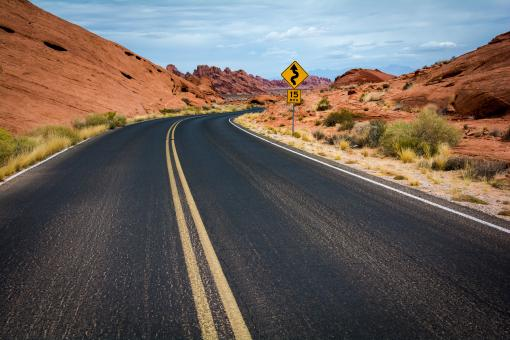 Road to Canyon - Free Stock Photo