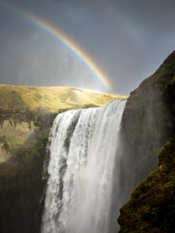 Beautiful Waterfall in Iceland - Free Stock Photo