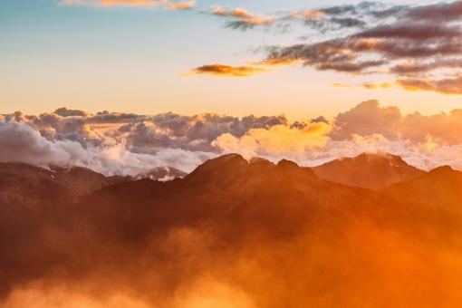 Mountains in the clouds - Free Stock Photo