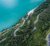 Free Photo - Aerial View of Curvy Road