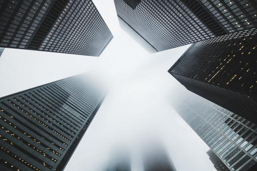Skyscrapers in the mist - Free Stock Photo