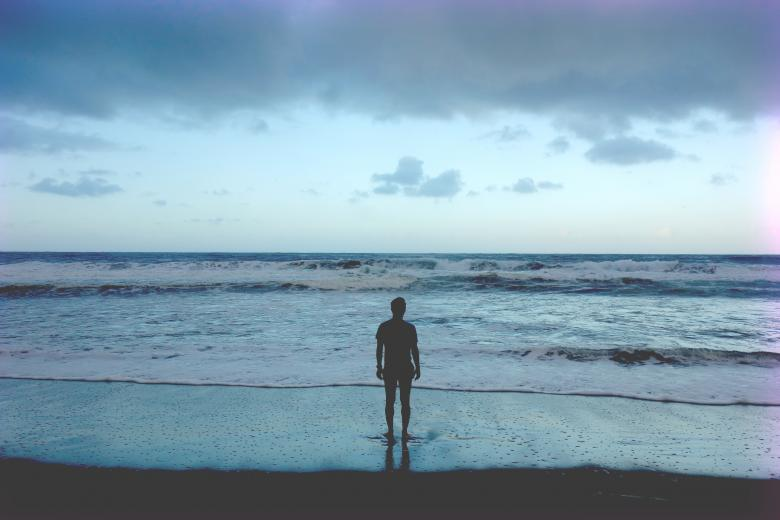 Free Stock Photo of Alone by the sea Created by Unsplash