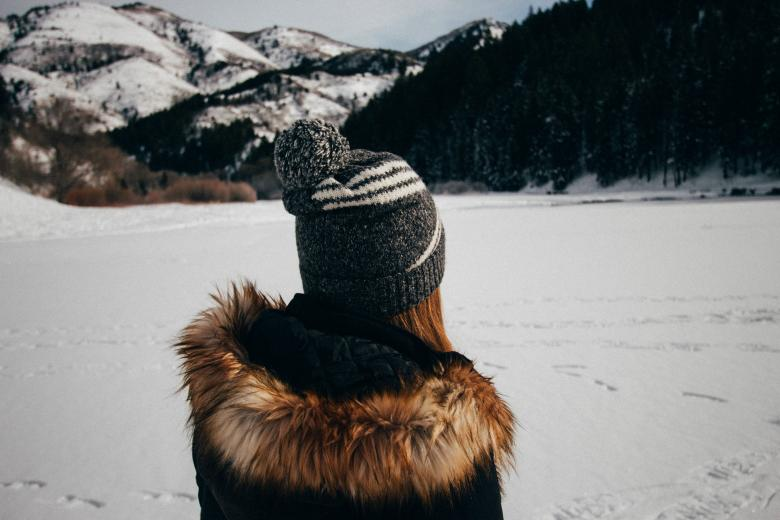 Free Stock Photo of Alone in the Snow Created by Unsplash