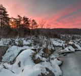 Free Photo - Great Falls Winter Twilight - HDR
