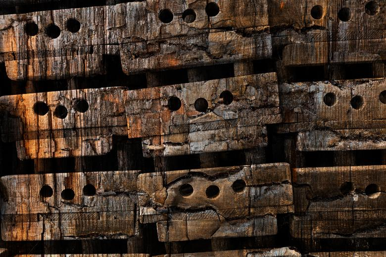 Free Stock Photo of Charred Wood Boxes Created by Nicolas Raymond
