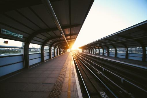 Sunny Train Station - Free Stock Photo