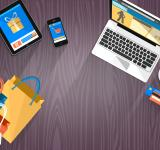 Free Photo - Online Shopping - Devices and Bags with Copyspace