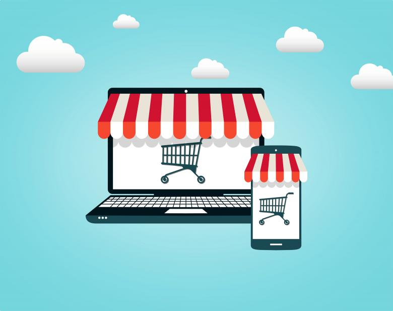 Free Stock Photo of Online Shopping - Shopping Cart on Screen Created by Jack Moreh