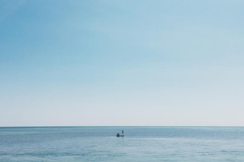 Free Stock Photo of Fishing in the vast ocean Created by Unsplash