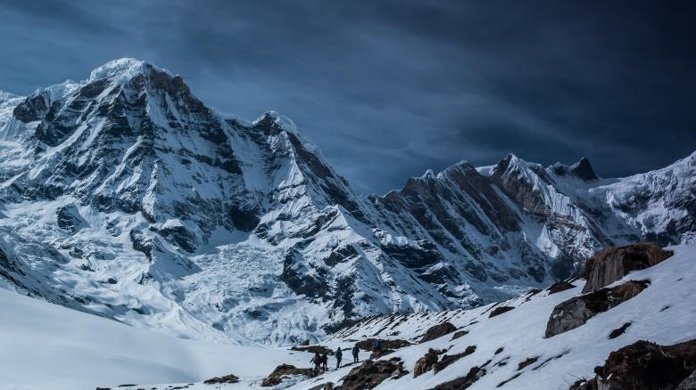 Climbers - Free Winter Stock Photos