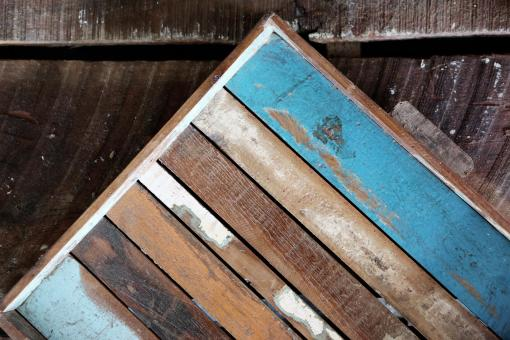 Painted Wood Board - Free Stock Photo