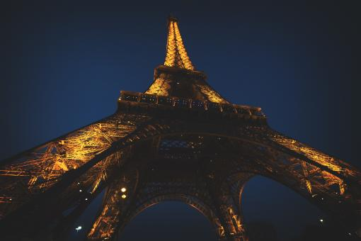 Eiffel Tower at Night - Free Stock Photo