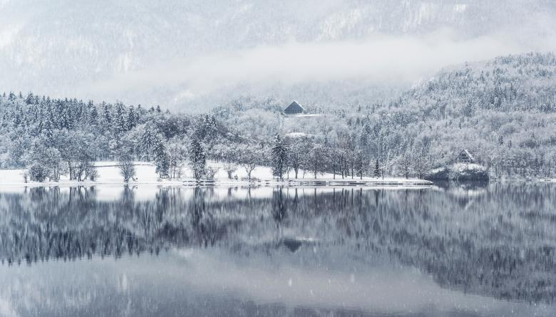 Winter Reflection - Free Abstract Winter Stock Photos