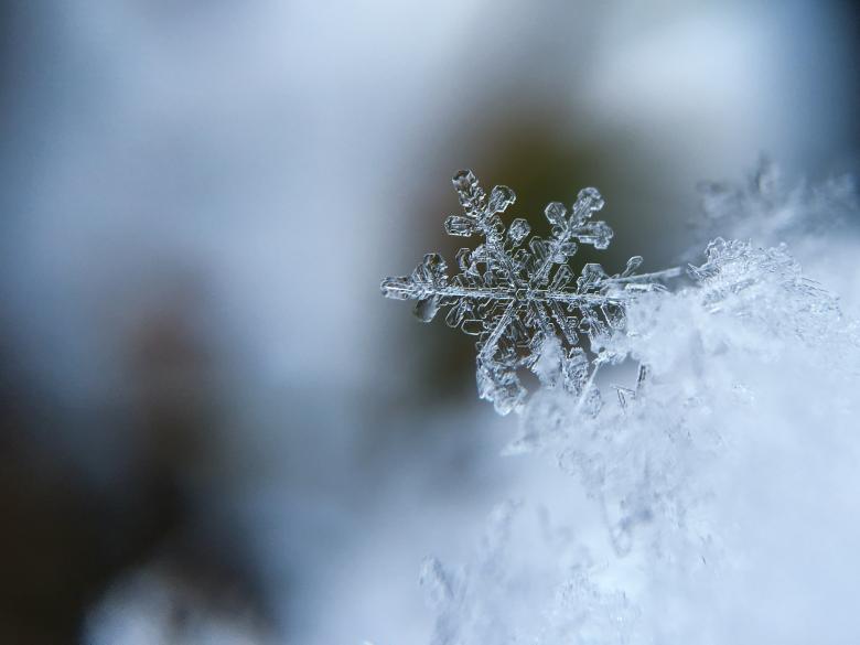 Snowflake Closeup - Free Abstract Winter Stock Photos