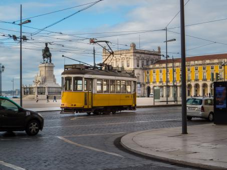 Yellow tram - Free Stock Photo