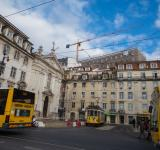 Free Photo - Architecture of Lisbon and plenty of city transports