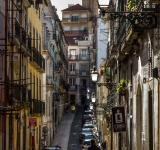 Free Photo - Lisbon narrow street