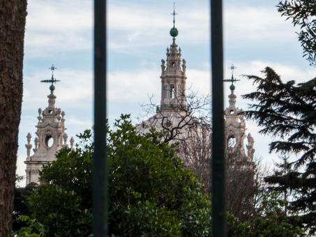Lisbon architecture - church through bars.  - Free Stock Photo