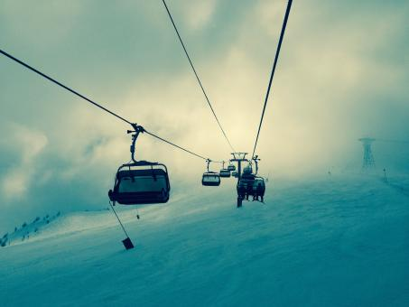 Chairlifts - Free Stock Photo