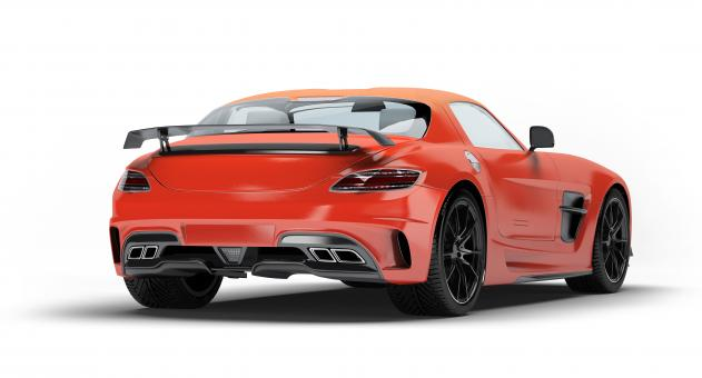 Mercedes SLS AMG Orange - Free Stock Photo