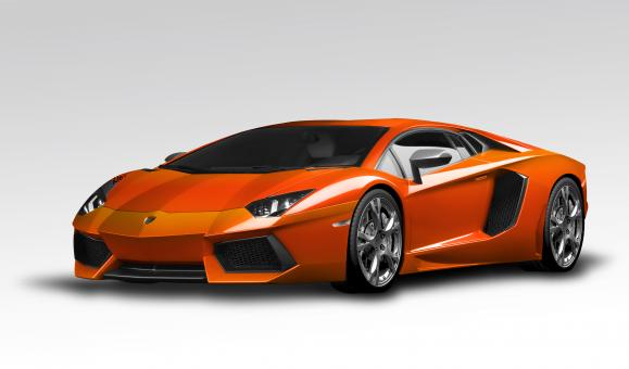 Lamborghini Aventador Orange - Free Stock Photo