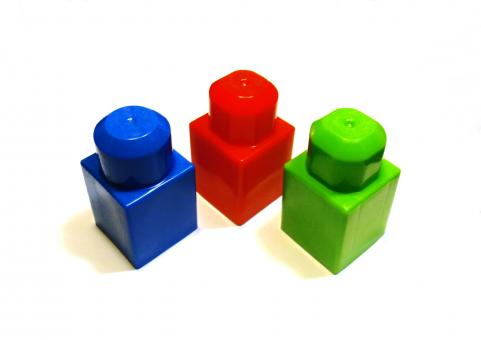 Different colored blocks - Free Stock Photo