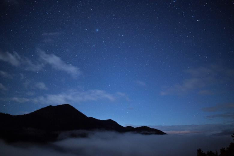 Free Stock Photo of Mountain Under the Stars