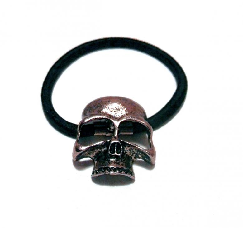 Free Stock Photo of Copper tone 3d skull head band Created by David M