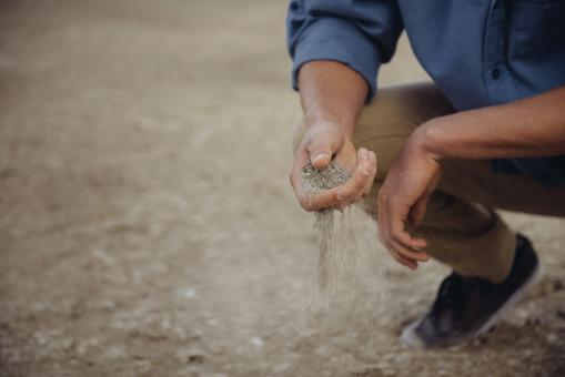 Sand in the hand - Free Stock Photo