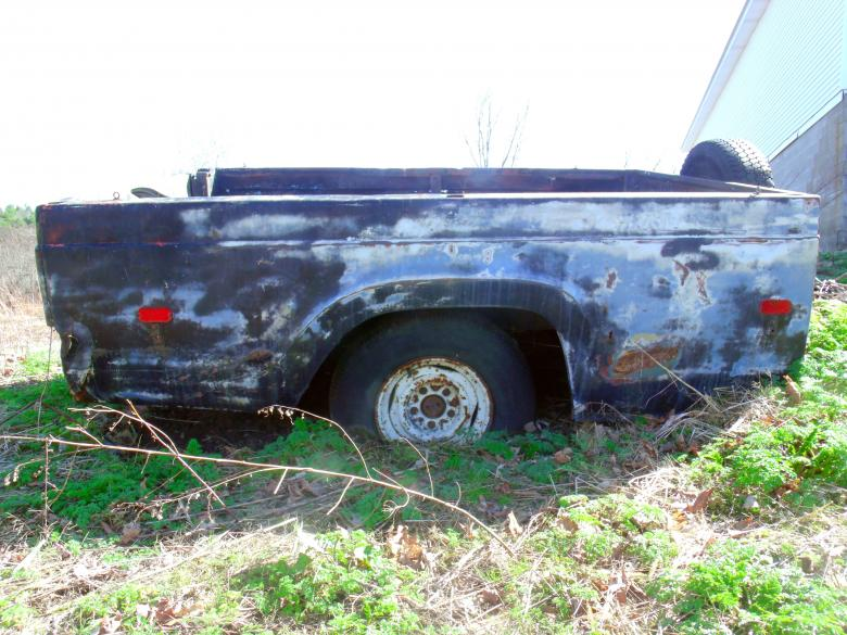 Free Stock Photo of Rusted detached truck bed Created by David M