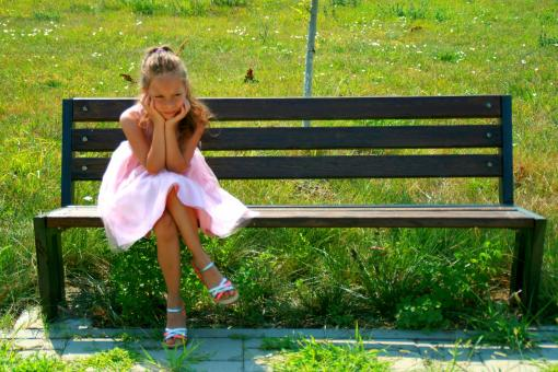 Girl on the Bench - Free Stock Photo