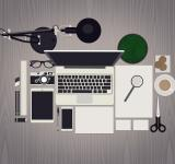Free Photo - Working Desk for Creative Professions - Mock Up